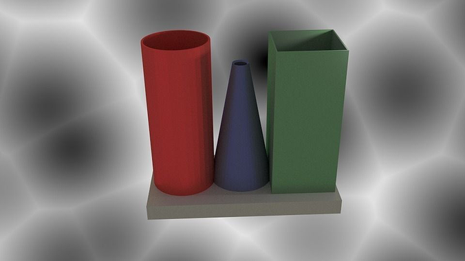 cylinder cone vase 3d model dae 1