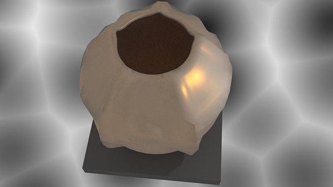 Rough Spherical Vase 3d Printable Model Cgtrader