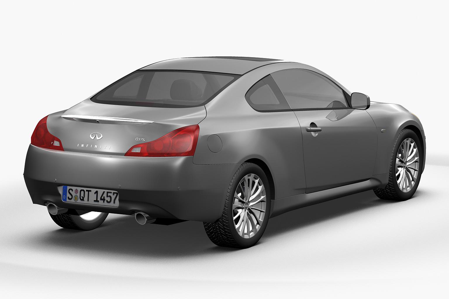 2012 infiniti g37 coupe 3d model max obj 3ds fbx lwo lw lws hrc xsi. Black Bedroom Furniture Sets. Home Design Ideas