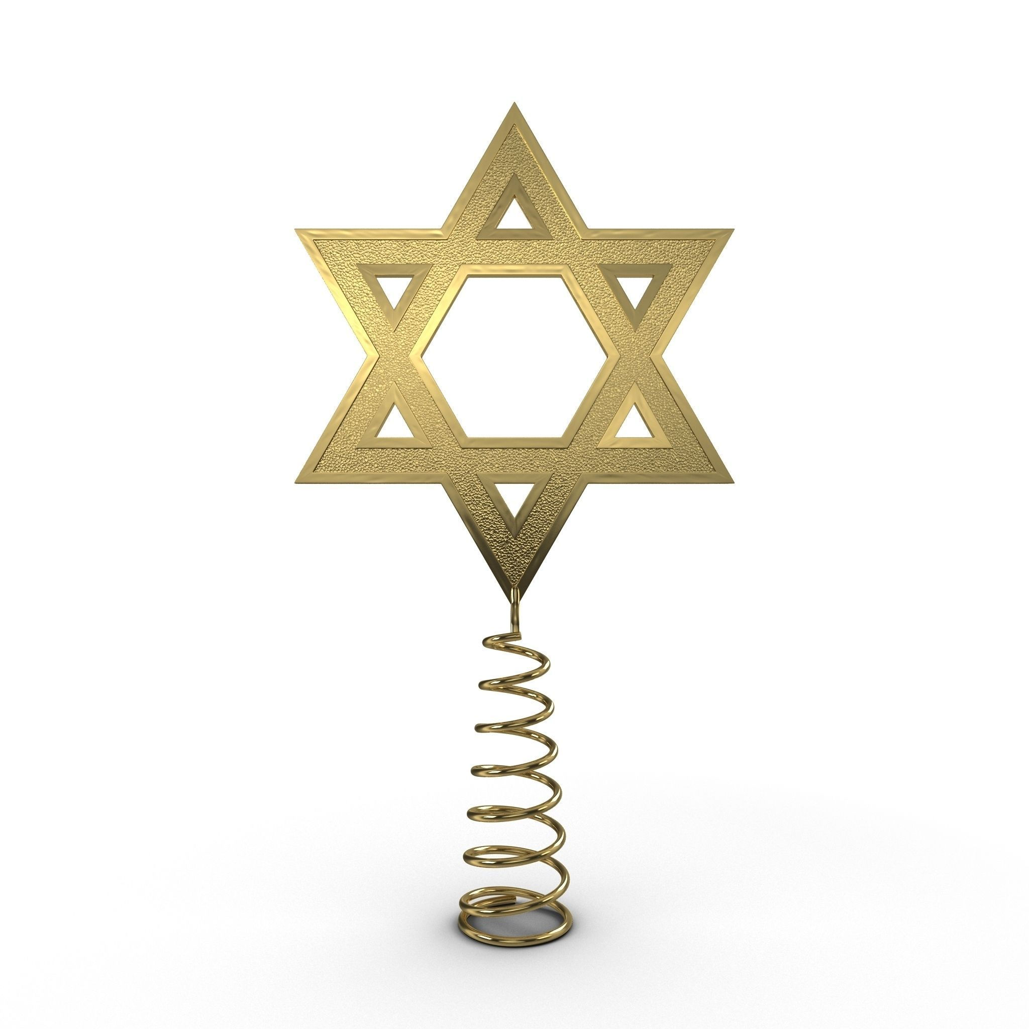 3D model Star of David Tree Topper | CGTrader