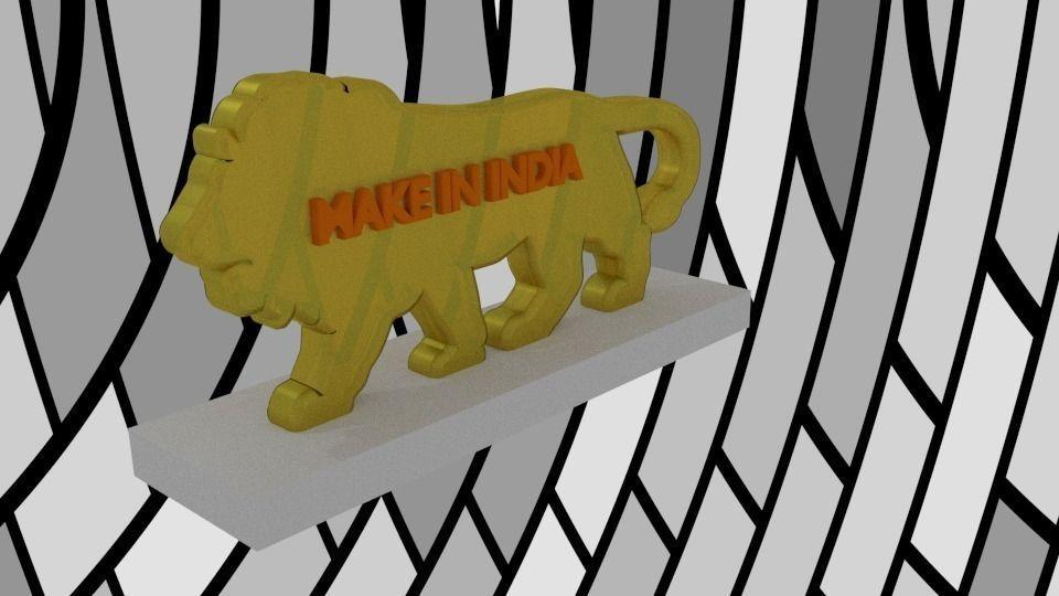 3D print model Make In India   CGTrader