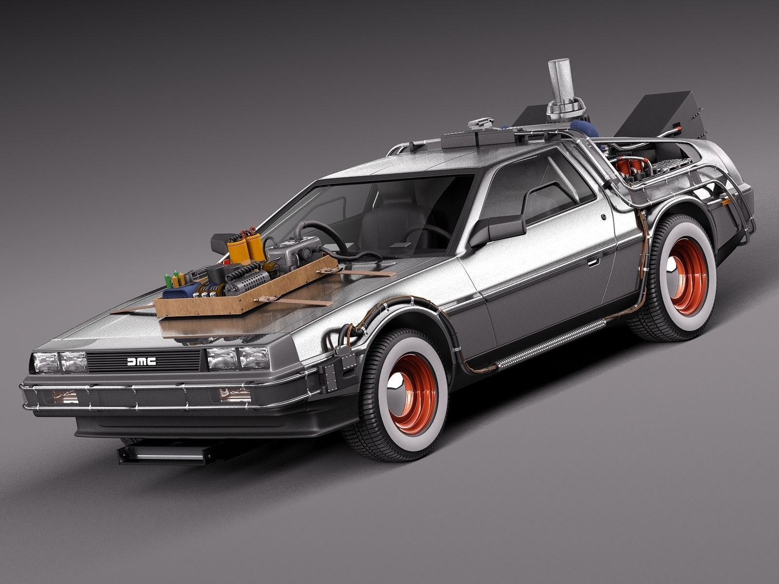Back To The Future Delorean Episode 3 Wild... 3D Model ...