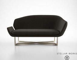Stellar Works Open Privacy Sofa 3D Model
