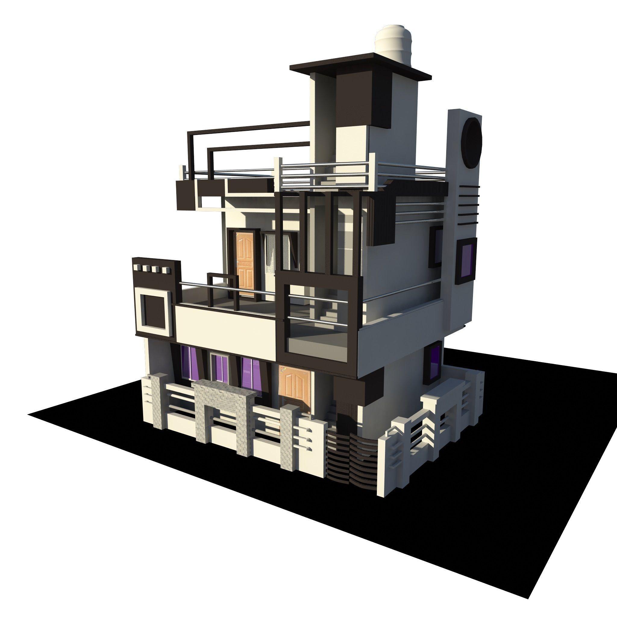 Home 3D Model Indian