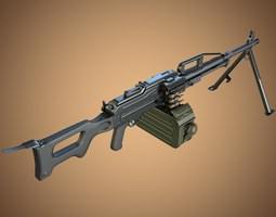 pkp pecheneg machine gun 3d model