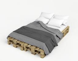 pallete bed 3d model max obj fbx