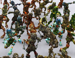 3DRT - Zombie Swarm  3D Model