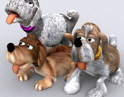3DRT - Toonpets Puppies  3D Model