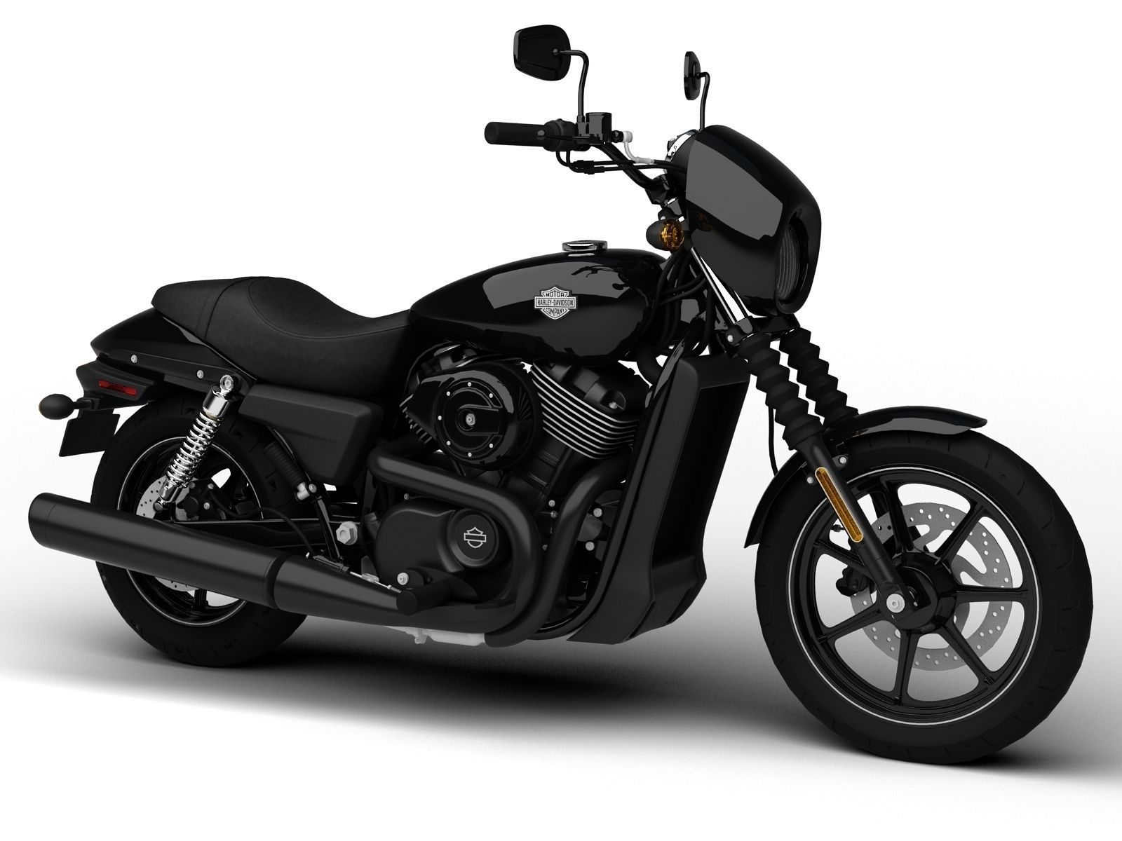harley davidson street 750 2015 3d model max 3ds fbx. Black Bedroom Furniture Sets. Home Design Ideas