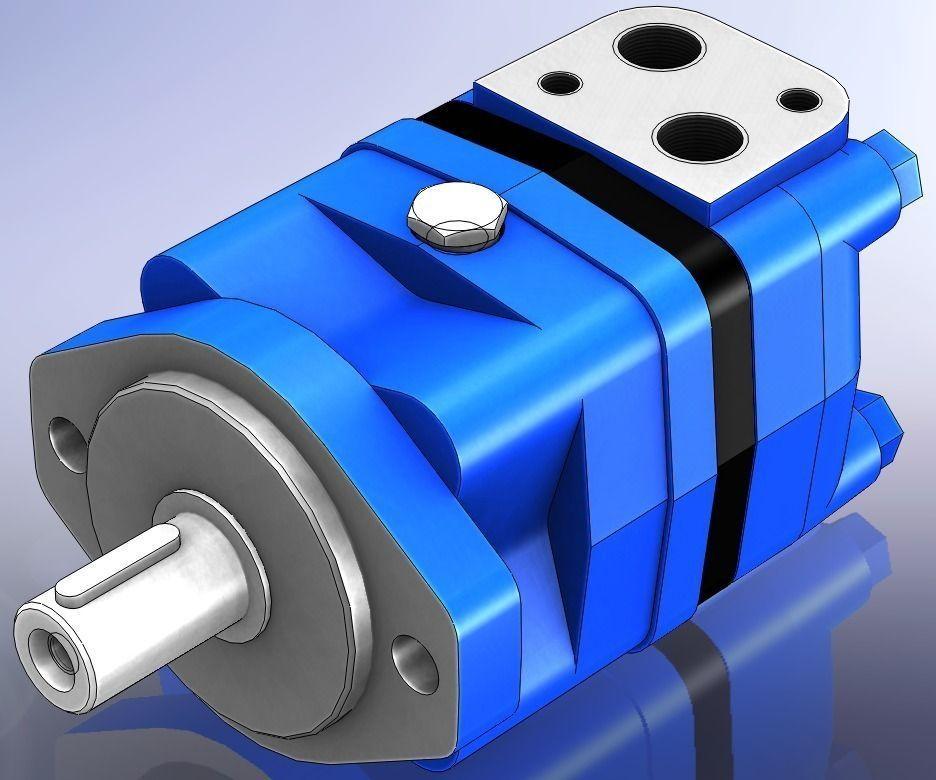 Hydraulic Orbital Motor Sauer Danfoss Oms Free 3d Model