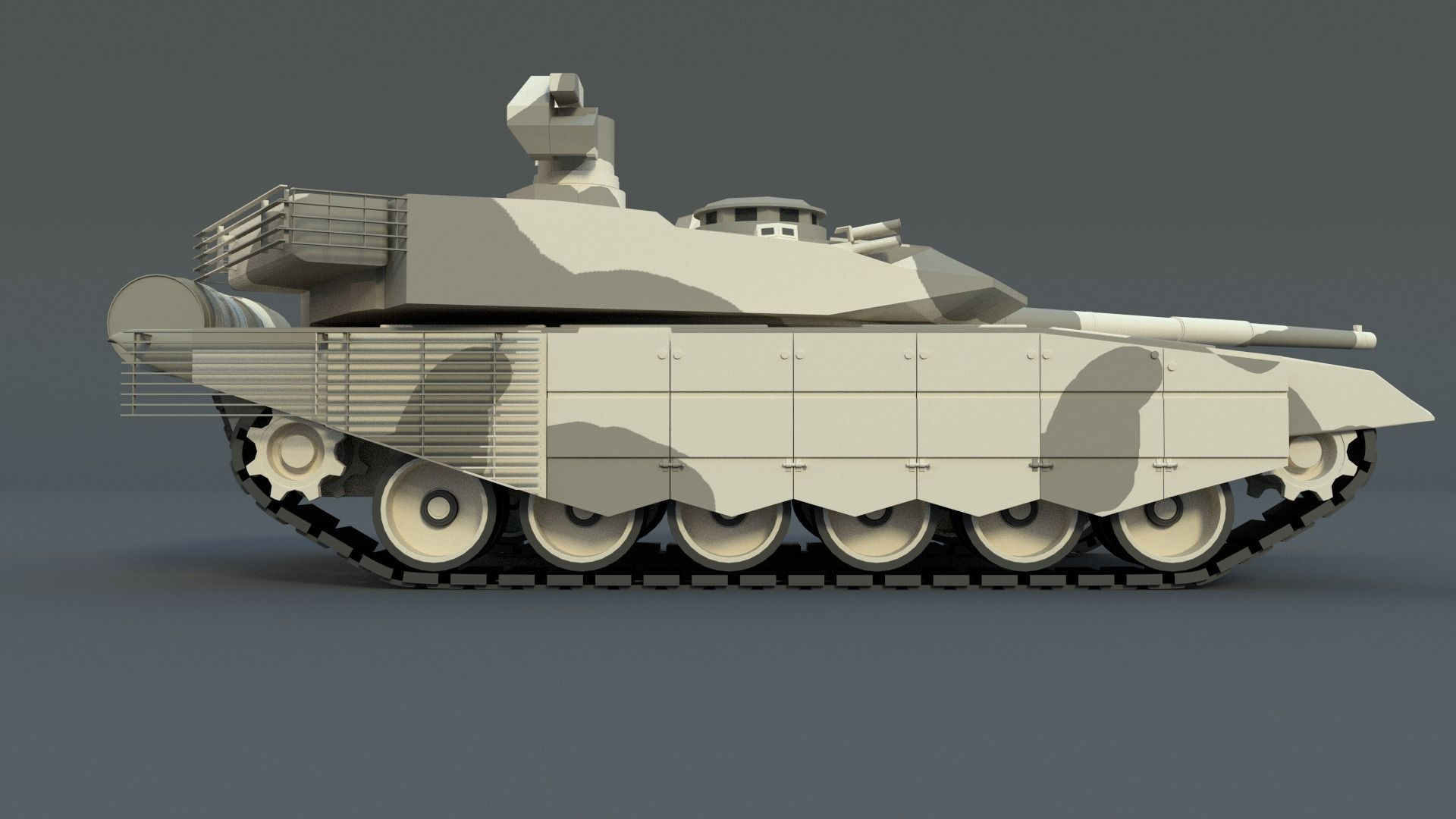 Very highly detailed 3d model of t90 ms tagil main battle tank