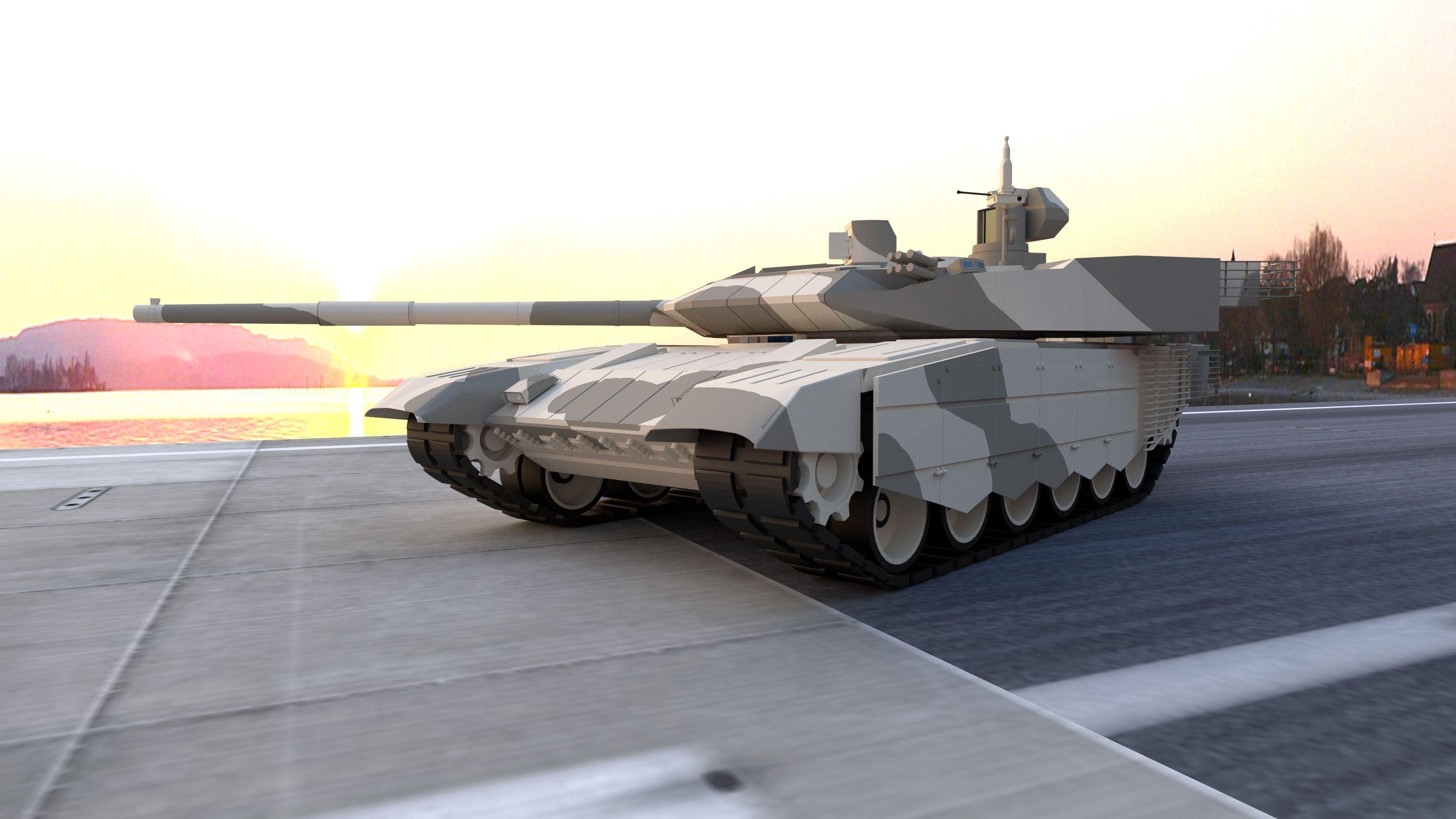 T90 Ms 3d Model Obj Fbx Blend Dae Mtl Cgtrader Com