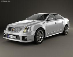 3D Cadillac CTS-V sedan 2009