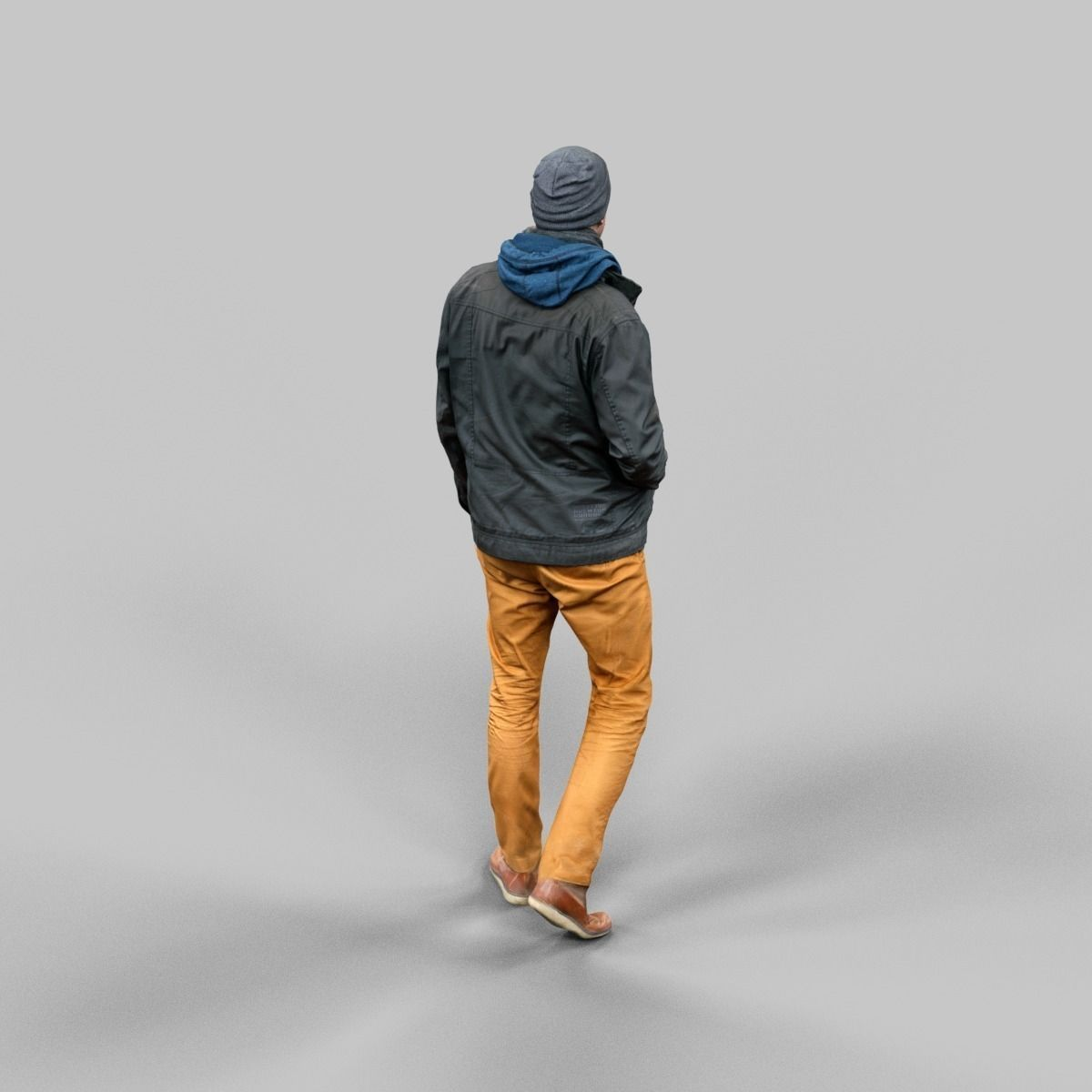 Casual Male Walking Pose Free VR / AR / Low-poly 3D Model