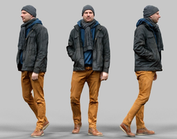 3D asset Casual Male Walking Pose