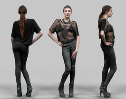 Rockstar in Leather Pants 3D Model