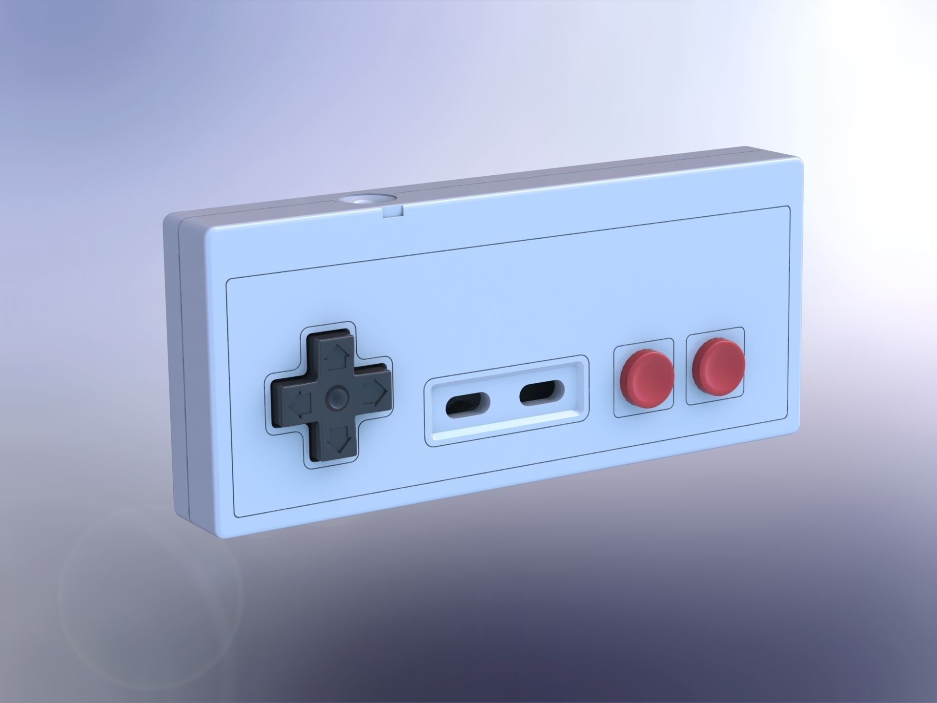 Printable Nintendo NES controller 3D Model 3D printable ...