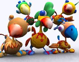 3DRT - Toonpets Birdies  3D Model