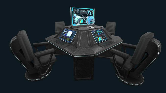 Sci-fi Communications Center3D model