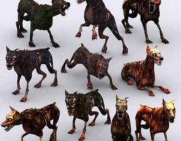 3DRT - Zombie Dogs  3D Model