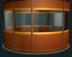 temporary isolation cell 3d model max
