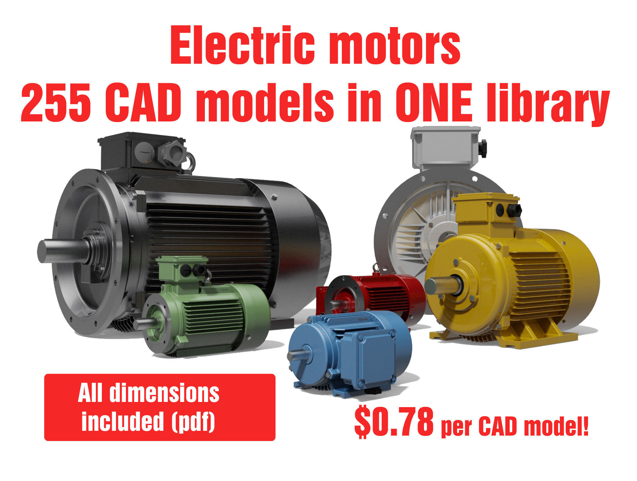 Ac Three Phase Induction Motors 3d Cad M 3d Model