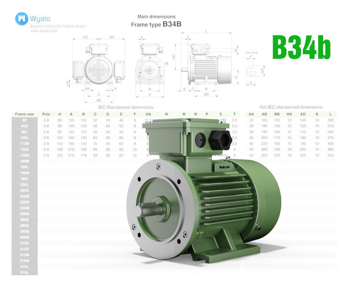 Ac Three Phase Induction Motors 3d Cad M 3d Model