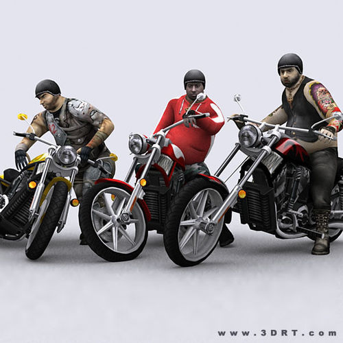 3DRT - Motorbikes Collection3D model