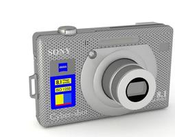 3D Sony Cypershot W100 Digital Camera