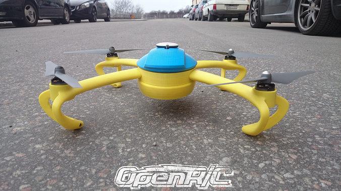 openrc quadcopter 3d model stl stp 1