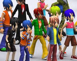 3DRT - Umi Anime Boys  3D Model