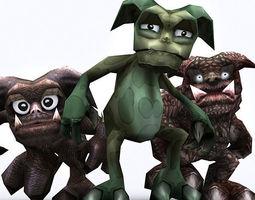 3DRT - Fantasy Gremlins 3D Model