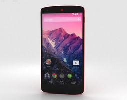 LG Nexus 5 Red 3D Model