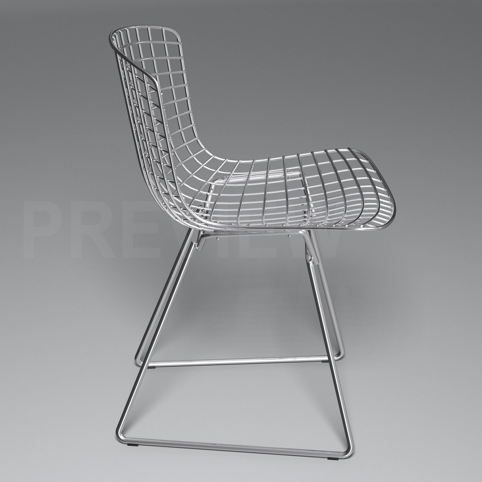 Charmant Bertoia Side Chair   Knoll 3d Model Max Obj Fbx 1 ...