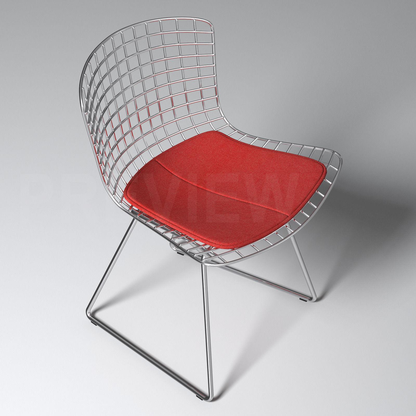 Bertoia Chair Knoll -  bertoia side chair knoll 3d model max obj fbx 3