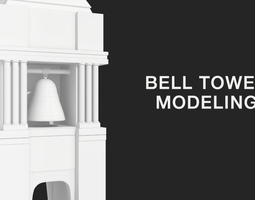 bell tower 3d model VR / AR ready