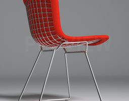bertoia side chair with full cover - knoll 3d model max obj fbx