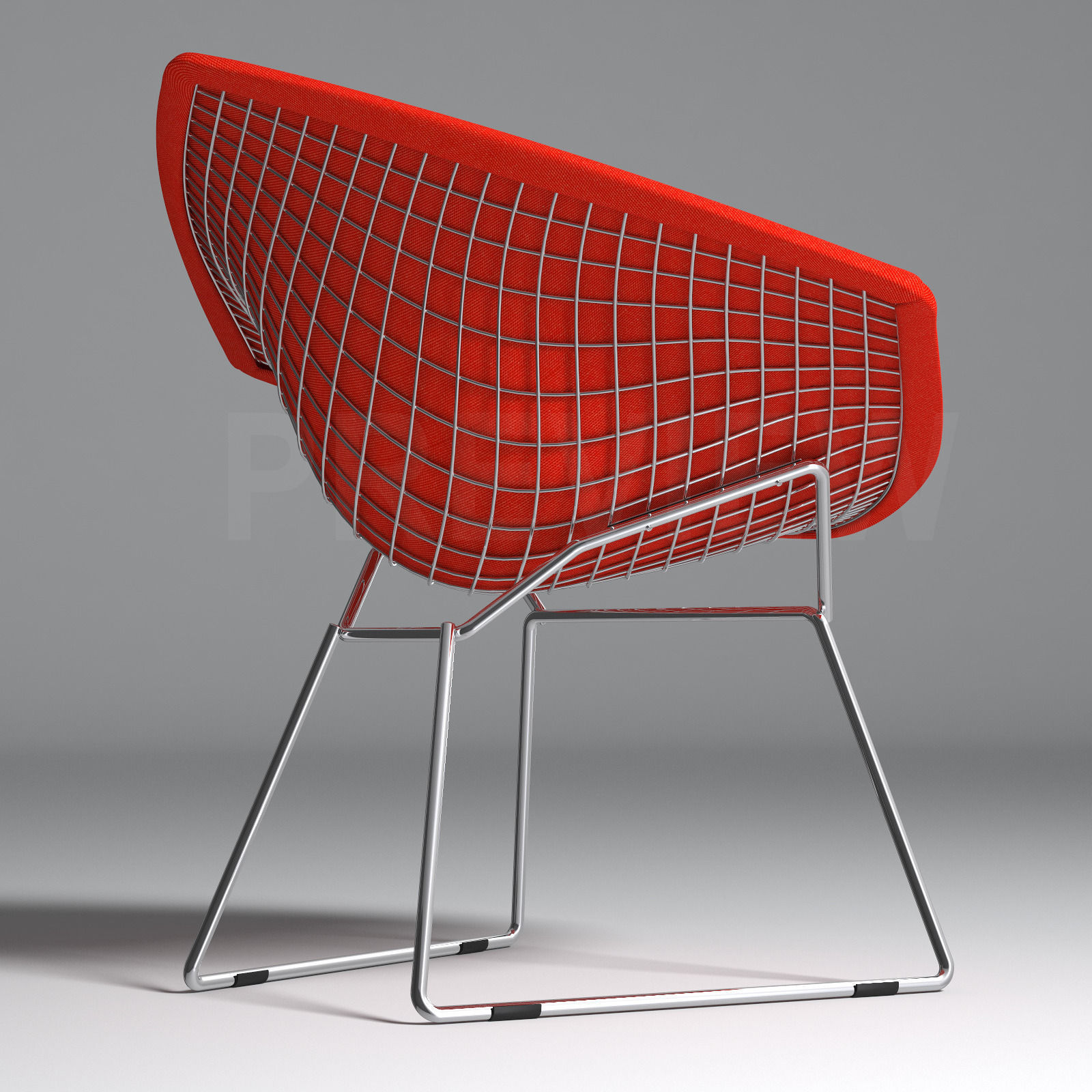 Perfect ... Bertoia Diamond Armchair With Full Cover   Knoll 3d Model Max Obj Fbx 3  ...