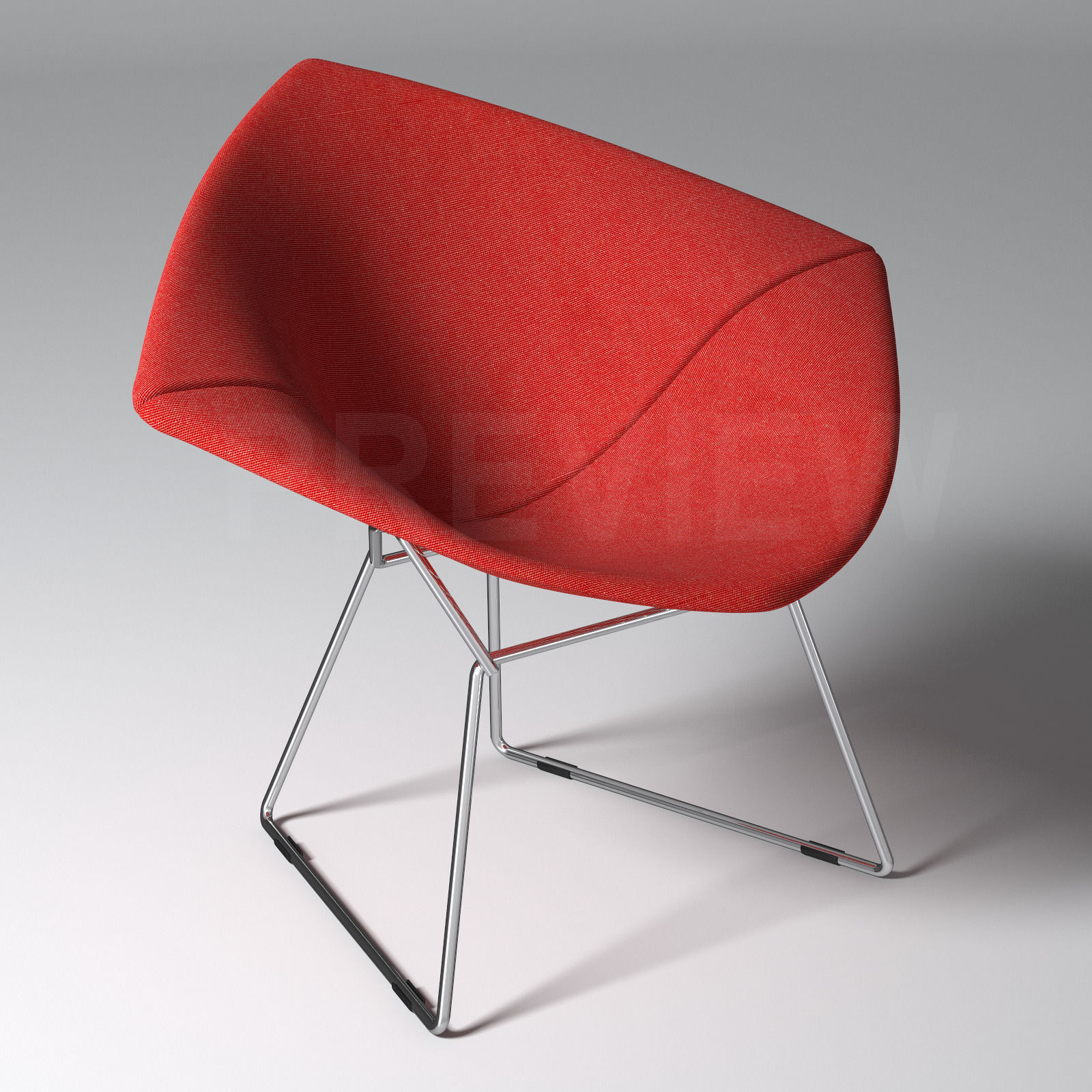 Bertoia Diamond Armchair With Full Cover Knoll 3d Model Max Obj