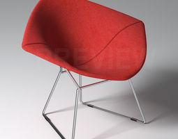 Bertoia Diamond Armchair with Full Cover - Knoll 3D Model