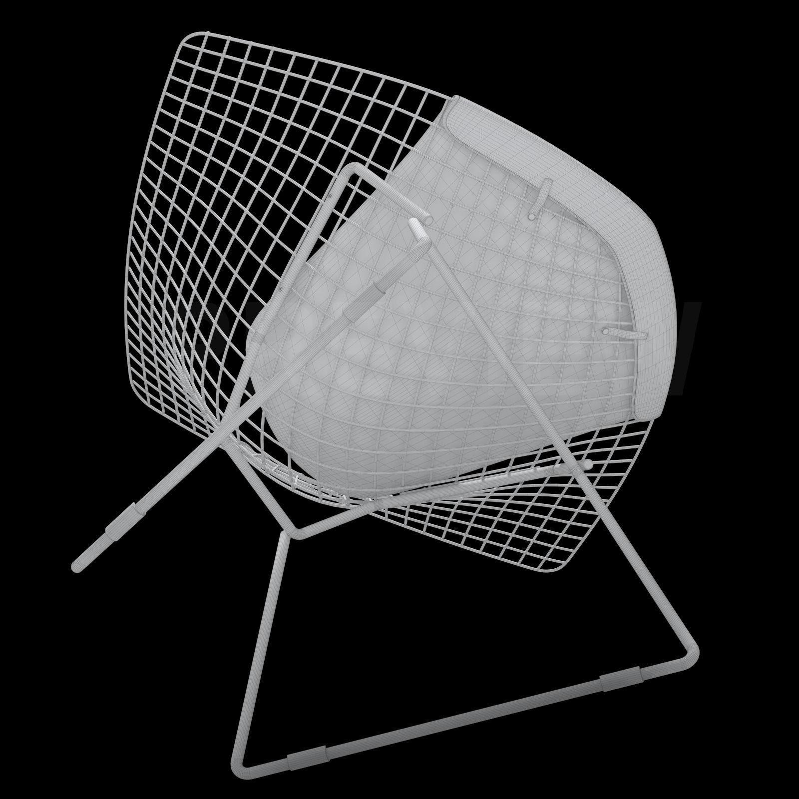 Bertoia Diamond Armchair - Knoll 3D Model MAX OBJ FBX ...