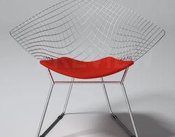 Bertoia Diamond Armchair - Knoll  3D Model
