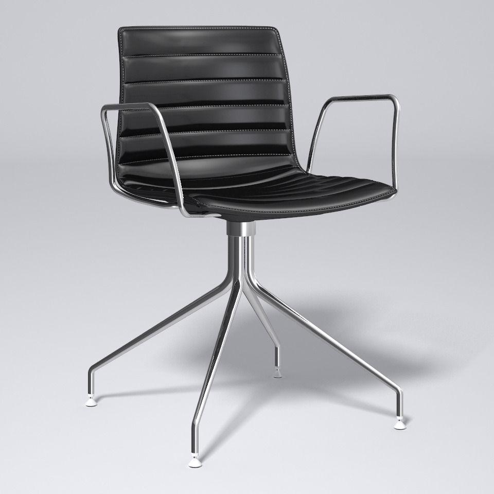 Catifa 46 Trestle Swivel Chair Arper 3d Model Max Obj
