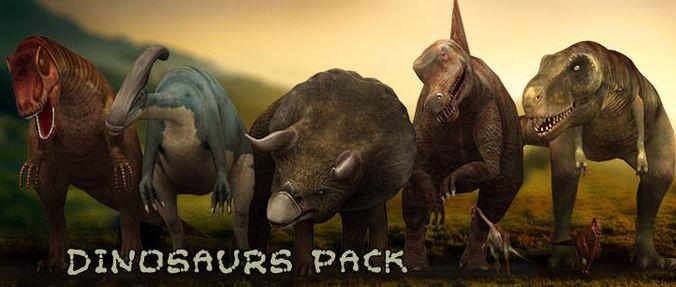 3DRT - Dinosaurs Pack3D model