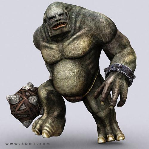 3DRT - Troll Golem3D model