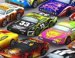 3DRT - Road Rush Muscle Cars  3D Model