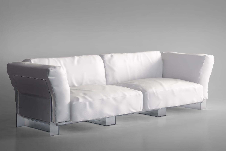 Kartell Pop Duo Sofa 3d Model Max Obj Mtl Cgtrader Com