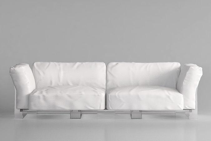 Kartell Pop Duo Sofa Model Max Obj Mtl 2