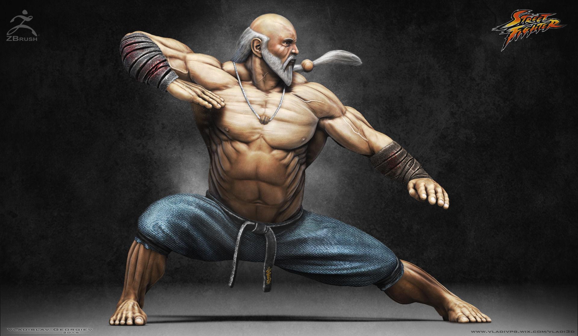 3d Model Gouken Character From The Game Street Fighter