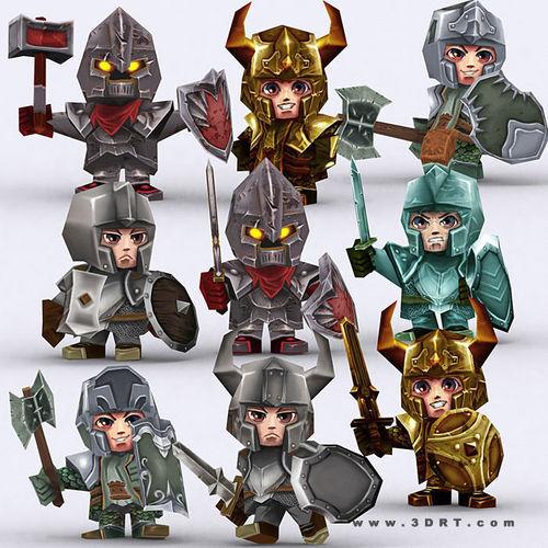 3DRT - Chibii Realm Characters3D model